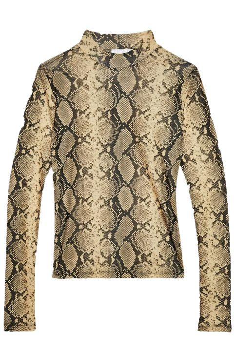 Snake Print Long Sleeve Top