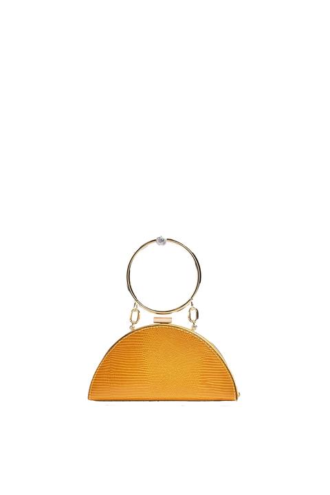 Yellow, Orange, Fashion accessory, Beige, Triangle, Circle, Jewellery, Metal,
