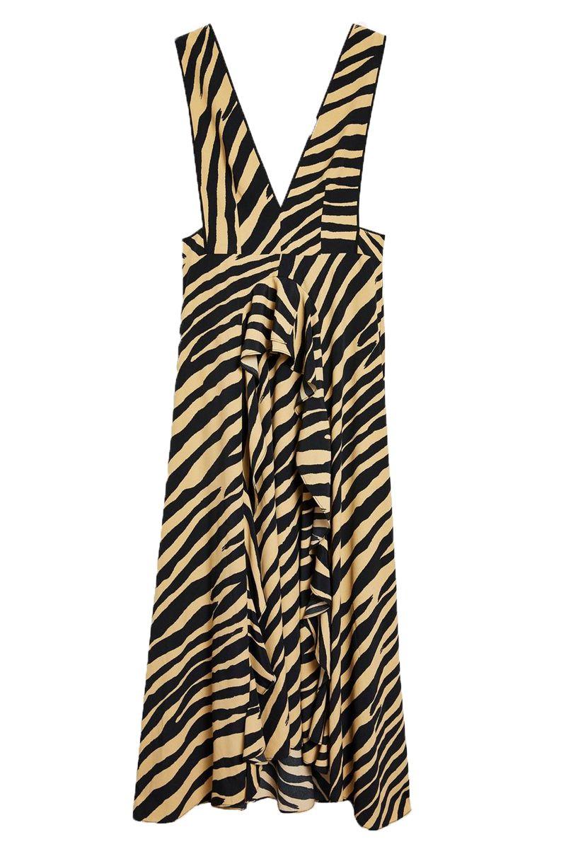 Autumn dress topshop Zebra print pinafore dress