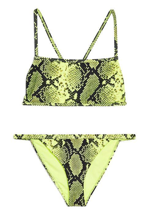 Topshop neon snake bikini