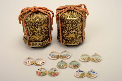 牡丹唐草文貝桶 日本・江戸時代 19世紀  株式会社虎屋蔵