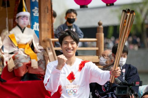 olympic torch relay aichi day 2