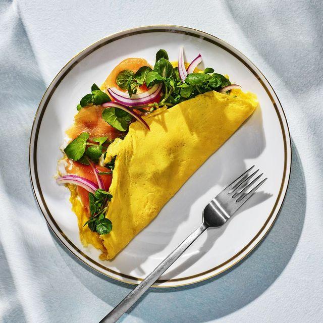 receta de tortilla de salmón y yogur
