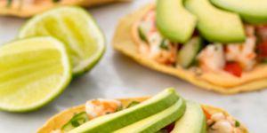 tortilla ceviche garnalen