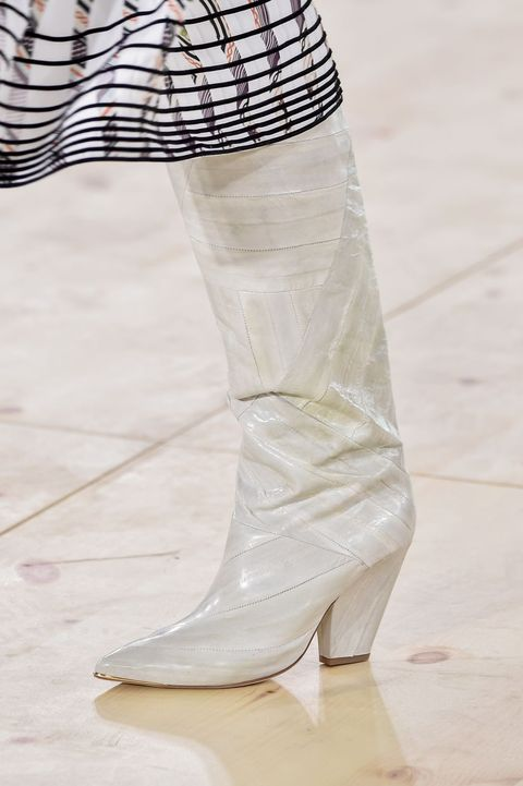 Footwear, White, Shoe, Fashion, Boot, Leg, Joint, Beige, High heels, Haute couture,