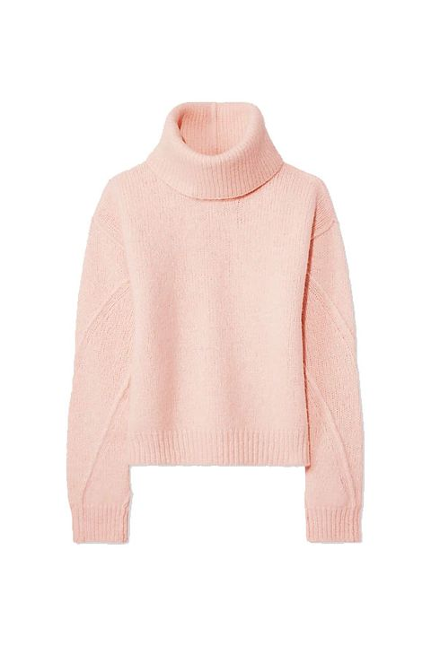 Clothing, Pink, Outerwear, Sleeve, Neck, Shoulder, Sweater, Top, Jersey, Wool,