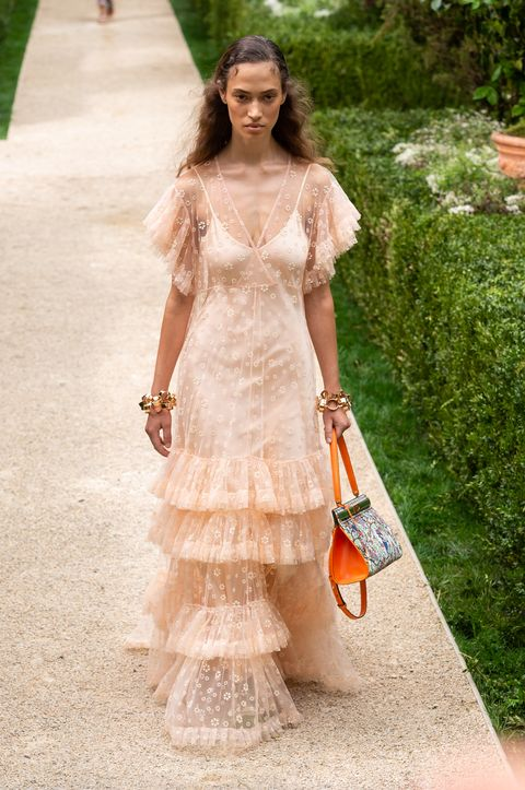 Clothing, Dress, Fashion model, White, Fashion, Gown, Shoulder, Beauty, Wedding dress, Bridal party dress,