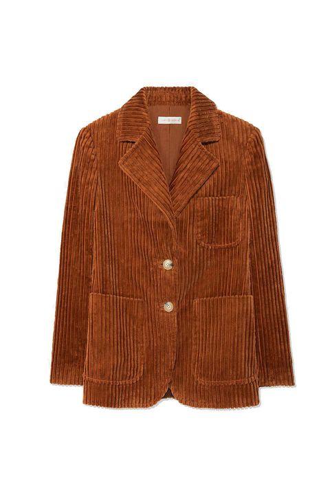 Clothing, Outerwear, Jacket, Tan, Brown, Blazer, Sleeve, Beige, Button, Top,