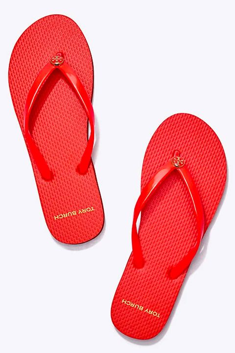 Footwear, Flip-flops, Slipper, Red, Sandal, Orange, Shoe, Slide sandal,