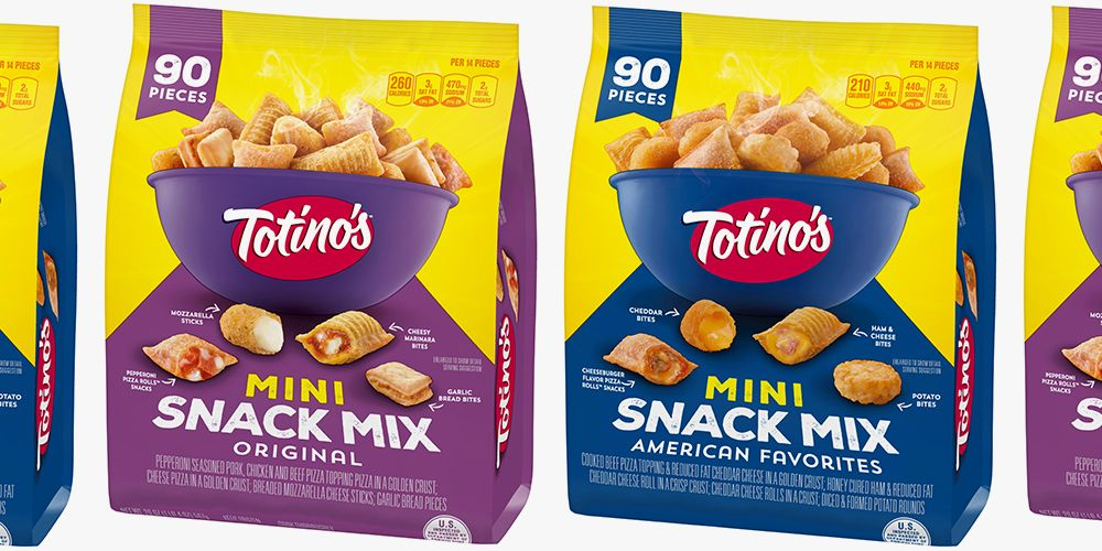 Totino's New Snack Mixes Are Filled With Mini Pizza Rolls, Garlic Bread Bites, and Other Cheesy Snacks