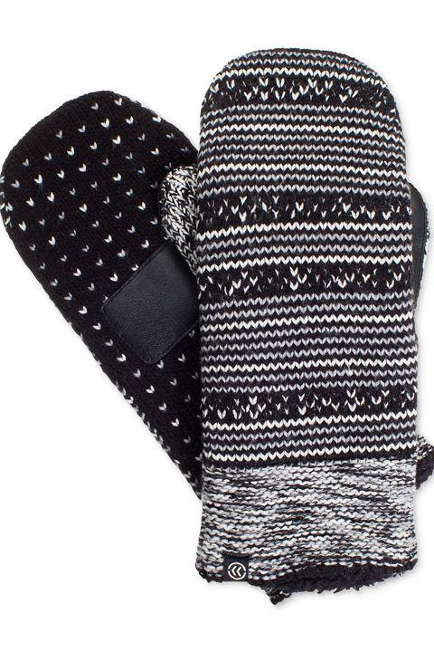 Glove, Black, Wool, Mittens, Fashion accessory, Pattern,