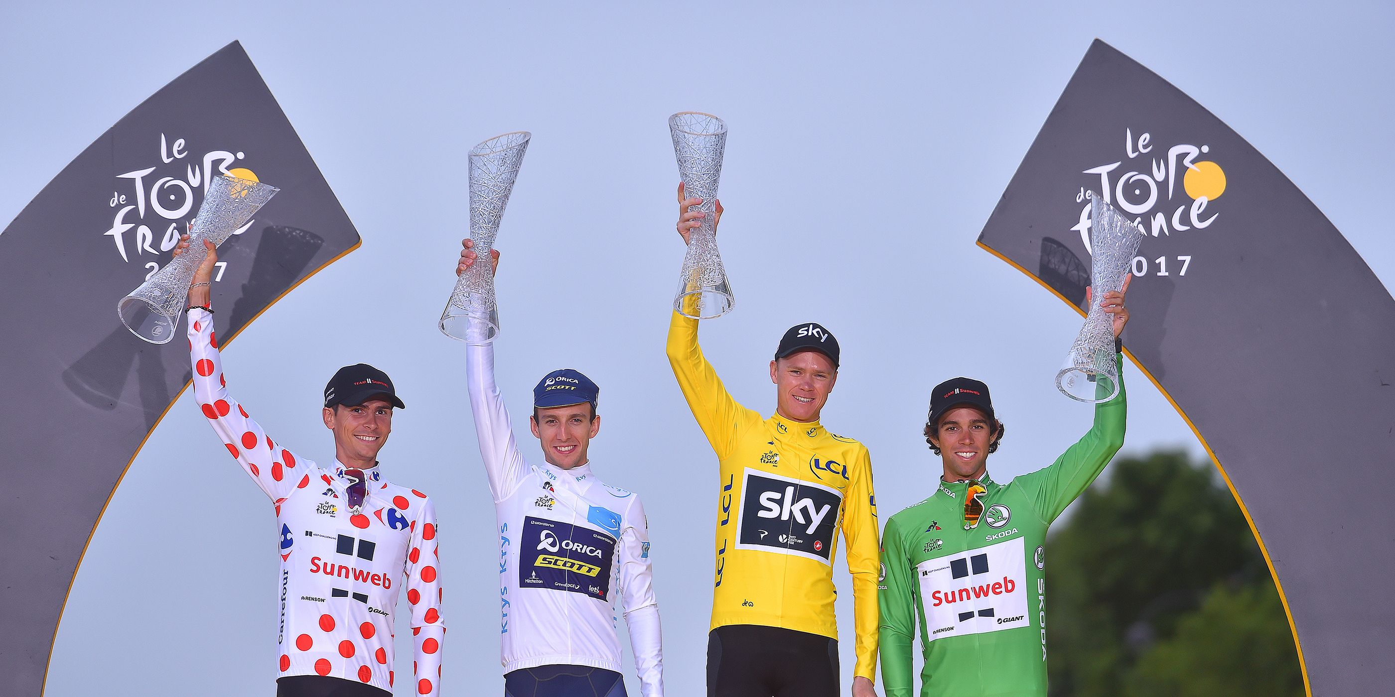 Tour de France 2017, podium