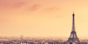 Tour Eiffel aerial view on Paris