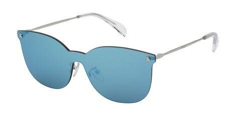 Eyewear, Sunglasses, Glasses, Aqua, Personal protective equipment, Blue, Transparent material, aviator sunglass, Azure, Vision care,