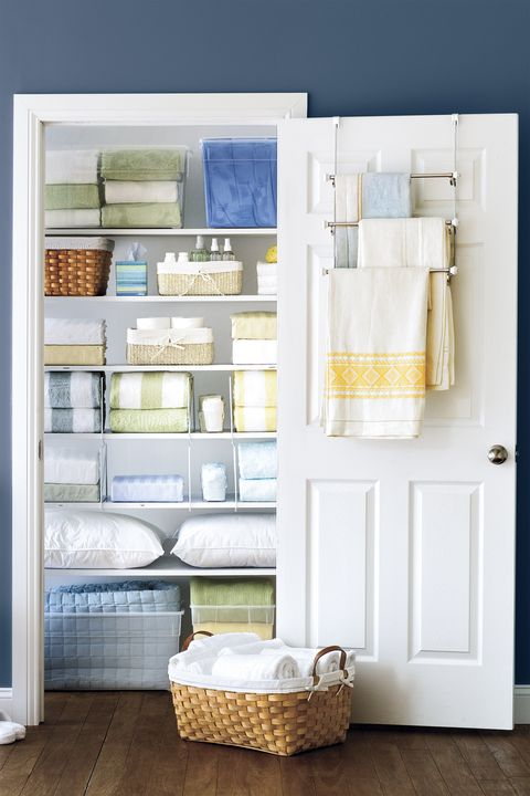 Towel Bars - Linen Closet Organization