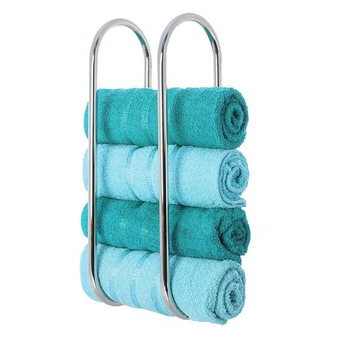 LIVIVO ® Chrome Plated Wall Mounted Oceana Bathroom Towel Rail Holder Storage Rack, Amazon