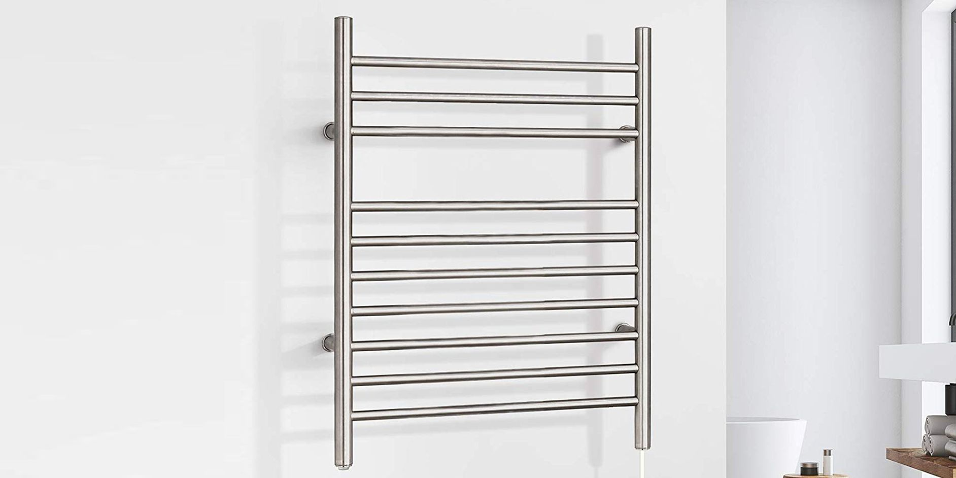 DELUXE TOWEL HOLDER FREE STANDING RAIL OVER DOOR BATHROOM STORAGE RACK ORGANIZER