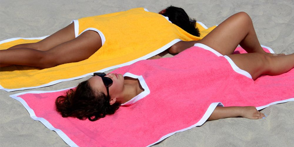 The Towelkini Is A Beach Towel And Swimsuit Cover-Up All In One
