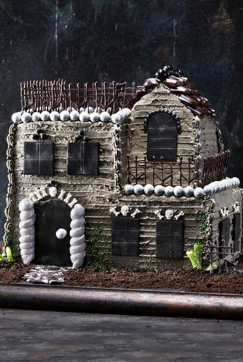 Towering Haunted House Cake