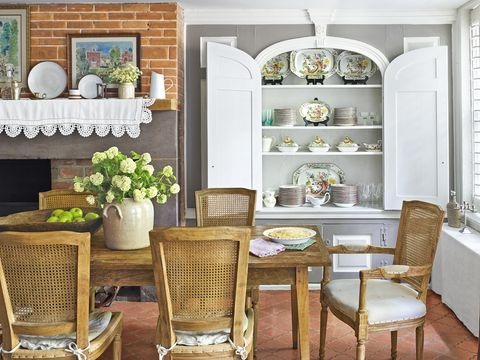 country decorating ideas dining room
