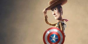 Toy Story 4 Woody Capitán América
