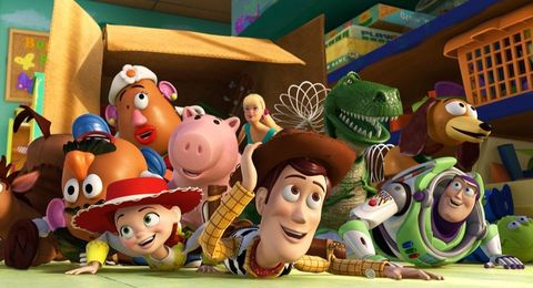 Disney Pixar Toy Story5.6 ft. Pre-lit Inflatable Airblown Woody and Slinky Scene