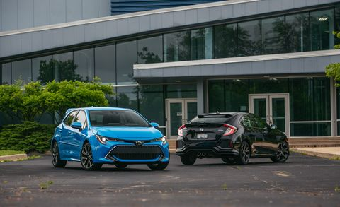2019 Honda Civic vs. 2019 Toyota Corolla: Which Compact-Car Icon Makes a Better Hatchback?