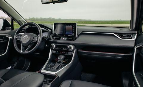 Land vehicle, Vehicle, Car, Motor vehicle, Center console, Mid-size car, Steering wheel, Sport utility vehicle, Subcompact car,