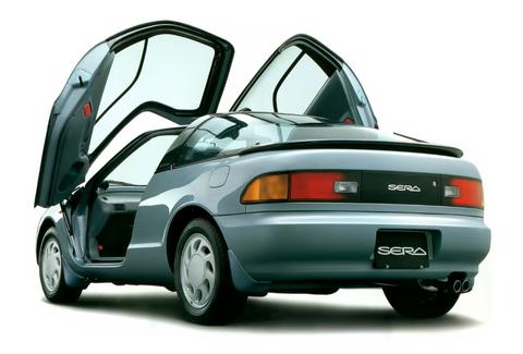 Land vehicle, Vehicle, Car, Motor vehicle, Coupé, Automotive design, Sports car, Toyota sera, Toyota, Automotive exterior,