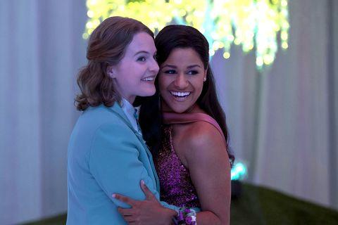 the prom l to r jo ellen pellman as emma, ariana debose as alyssa greene in the prom cr melinda sue gordonnetflix © 2020