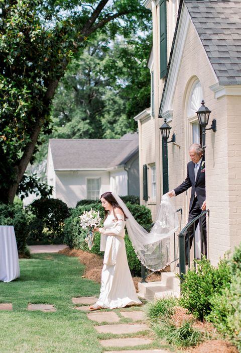 an at home wedding hosted by evermore weddings and events