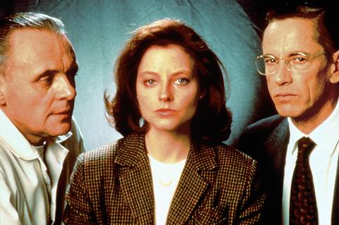 """Anthony Hopkins y Jodie Foster en """"El silencio de los corderos"""""""