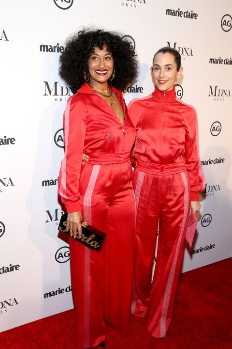 Tracee Ellis Ross and Karla Welch at the 2018 Image Makers Awards