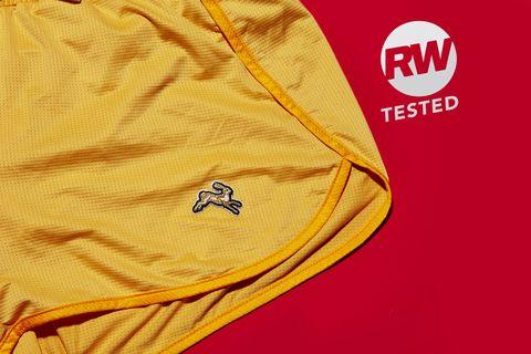 Tracksmith Yellow Shorts