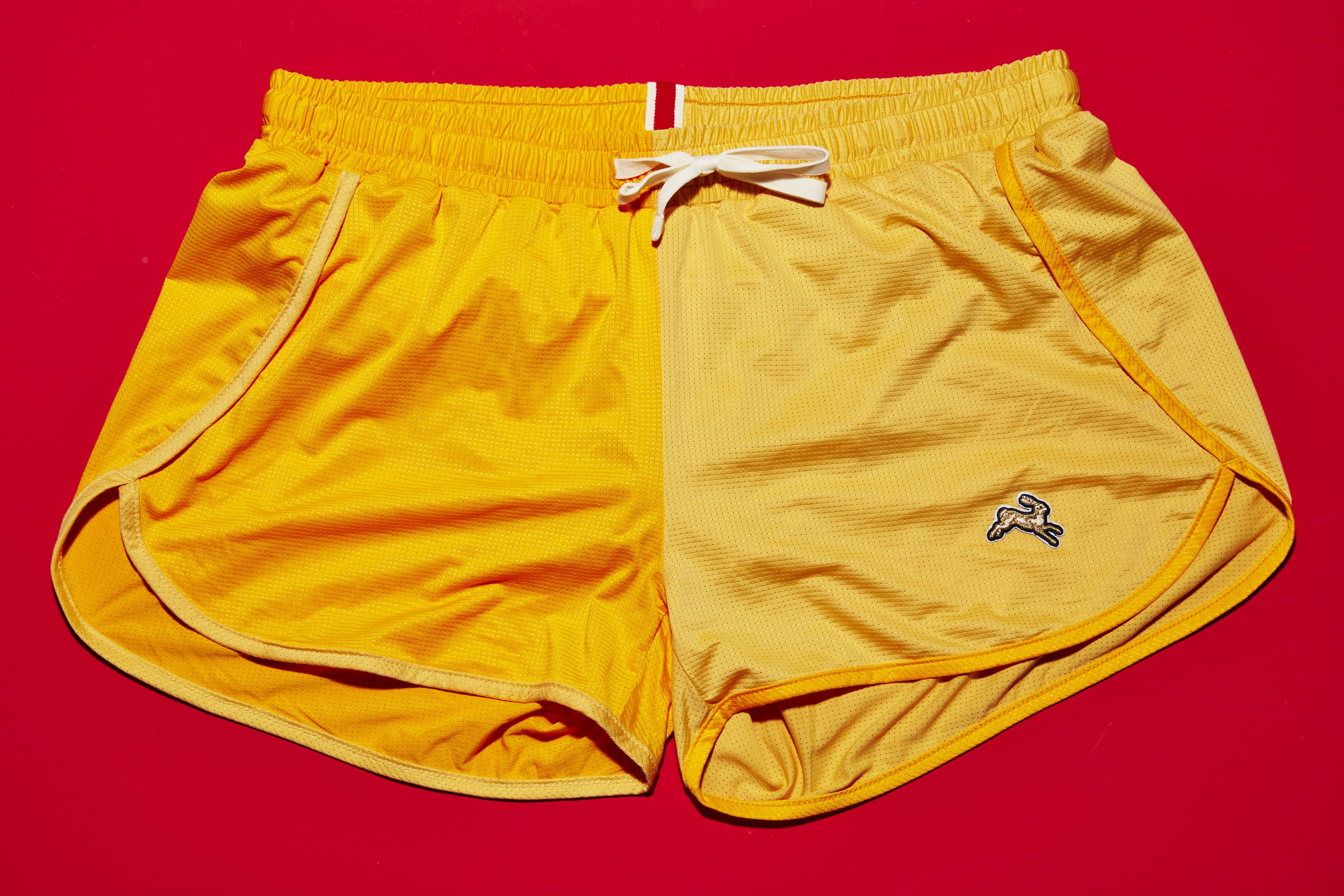Tracksmith Yellow Shorts