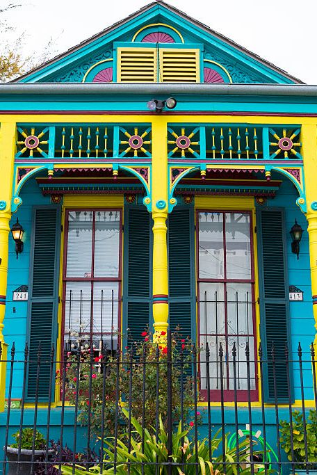 colorful home exteriors