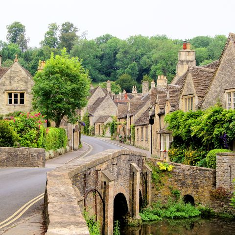 traditional cotswold village, england