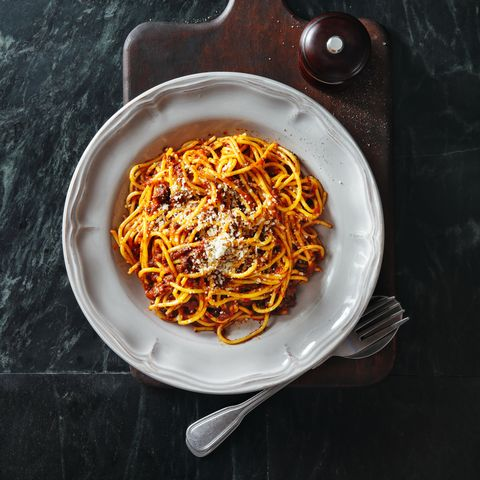 Traditional Italian meal spaghetti alla bolognese