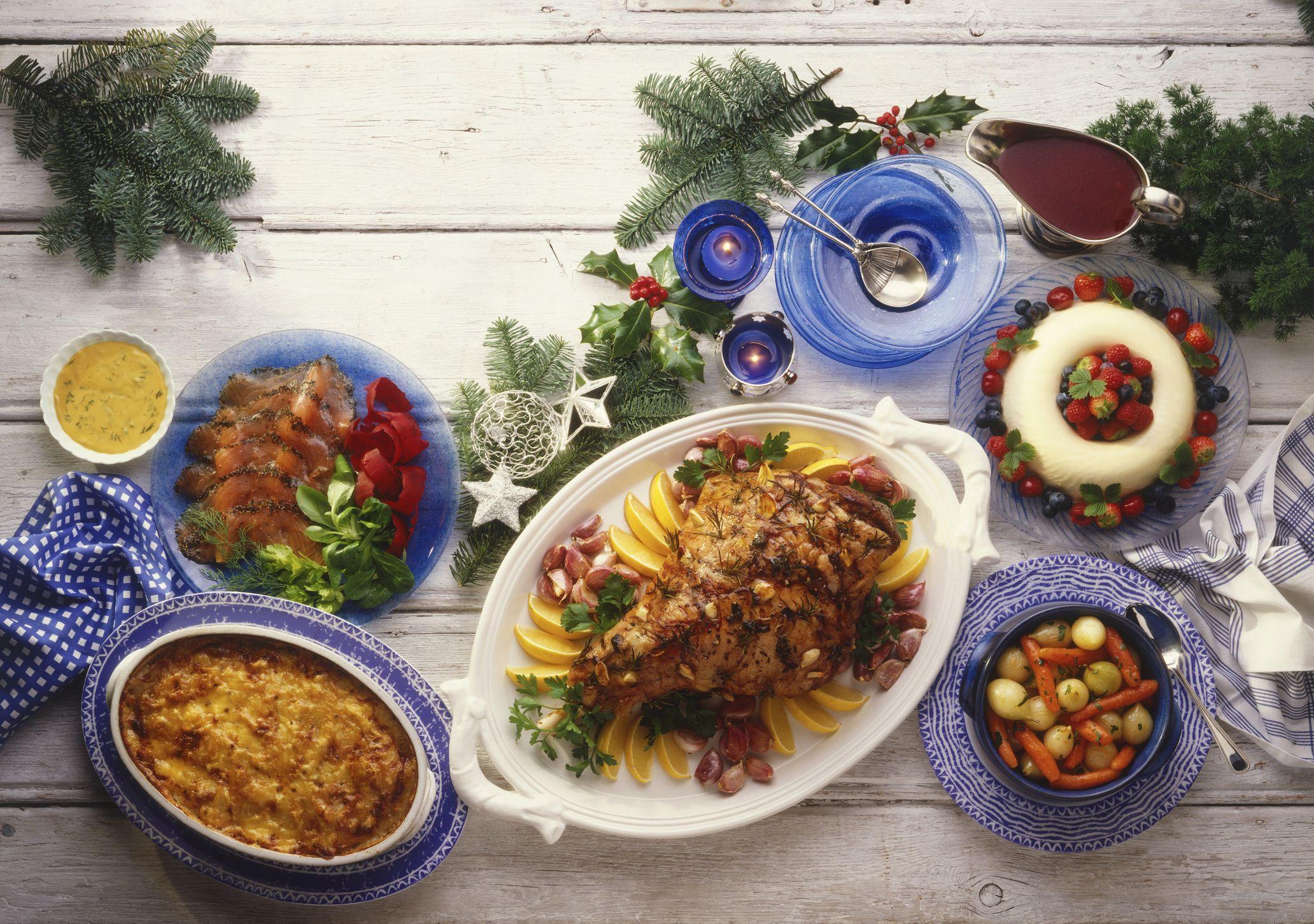 Traditional Norwegian Christmas buffet