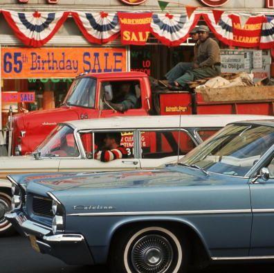 1960年代のニューヨークの路上