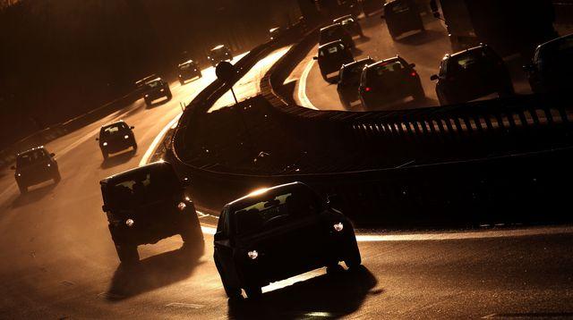 easter traffic on german motorways