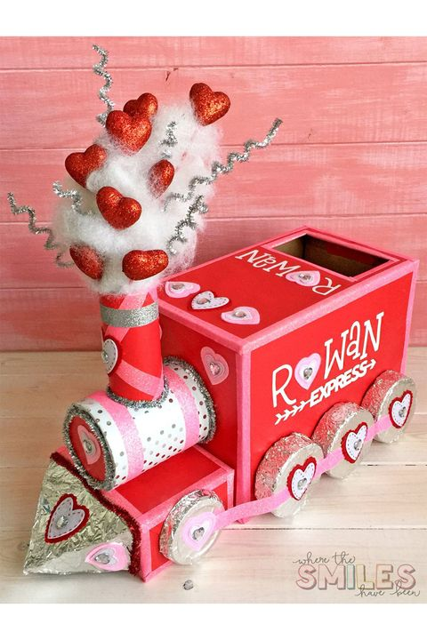 train valentine's day mailbox