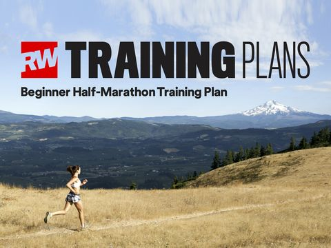 Our complete beginner half marathon training schedule