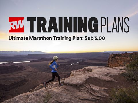 Marathon sub-3:00 training plan