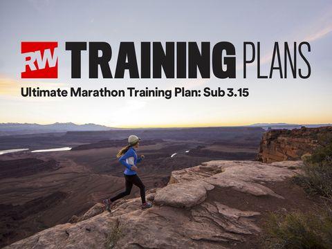 Sub-3:15 marathon training plan