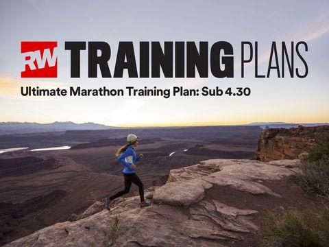 Sub 4:30 marathon training plan