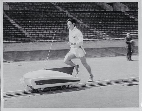 Japanese Runner Using Pace Maker