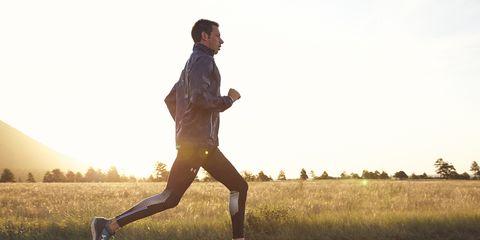 Grass, Human leg, Shoe, People in nature, Jogging, Athletic shoe, Running, Plain, Knee, Sunlight,
