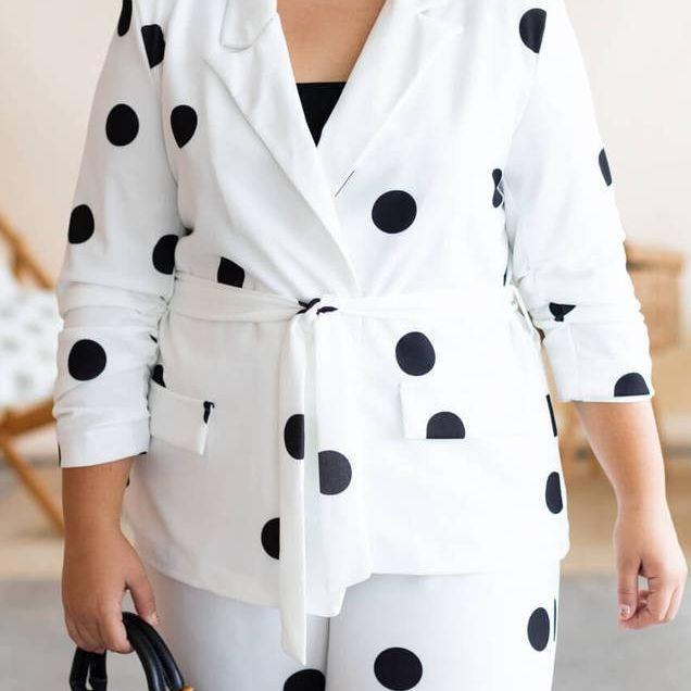 traje de chaqueta para bajitas de talla grande