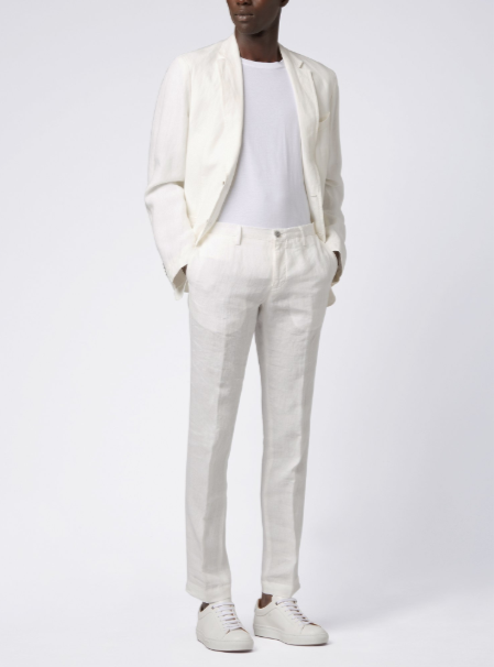 traje blanco hugo boss